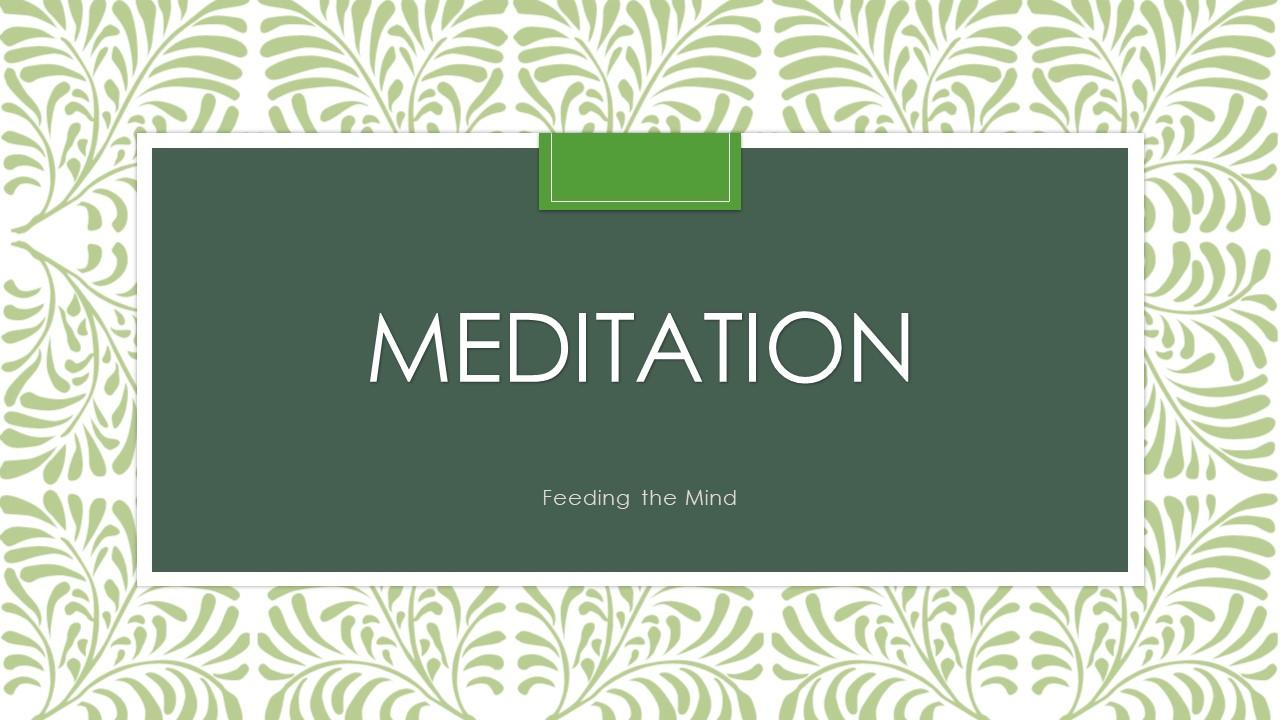 Meditation Slide Cover