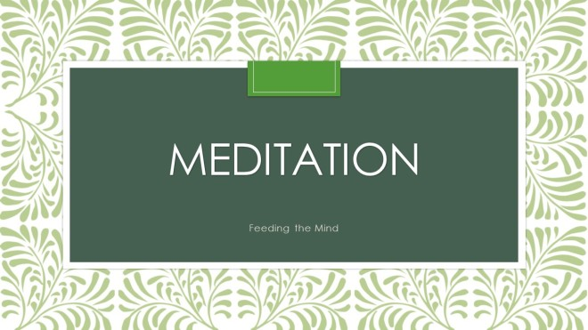 Meditation Slide Cover