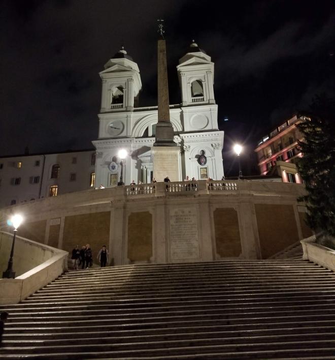 Spanish Steps at night